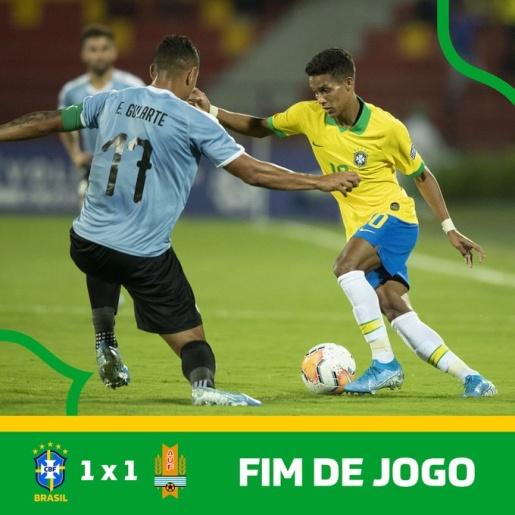 Brasil só empata com Uruguai e se complica no Pré-Olímpico