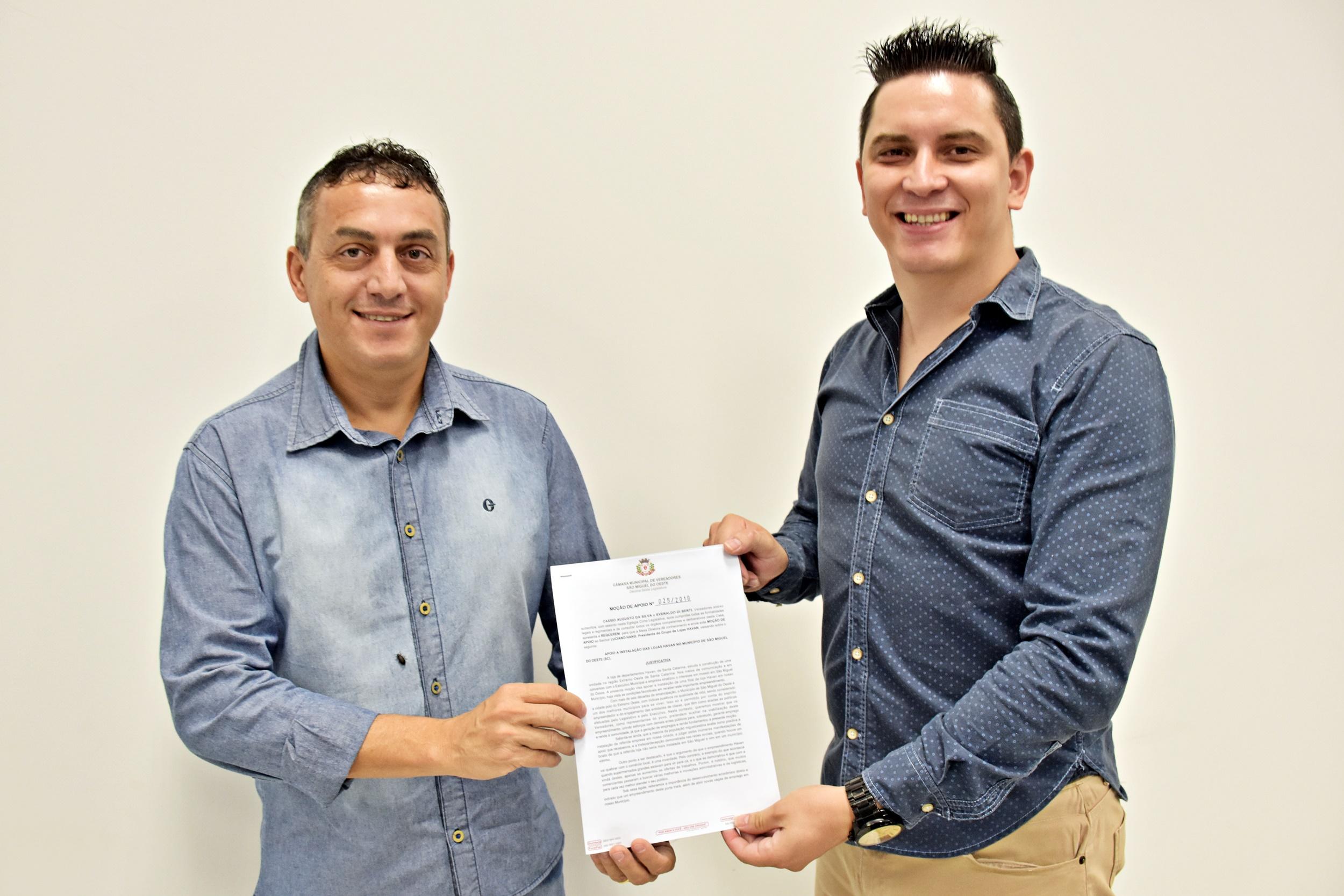 Vereadores manifestam apoio à instalação da Havan em São Miguel
