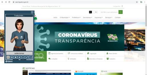 Site oficial de São Miguel do Oeste ganha adaptações de acessibilidade