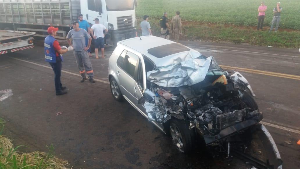 Colisão deixa dois mortos na BR-282