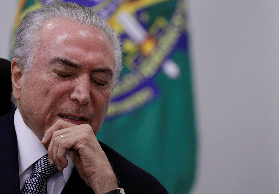 JBS grava Temer liberando compra de silêncio de Cunha