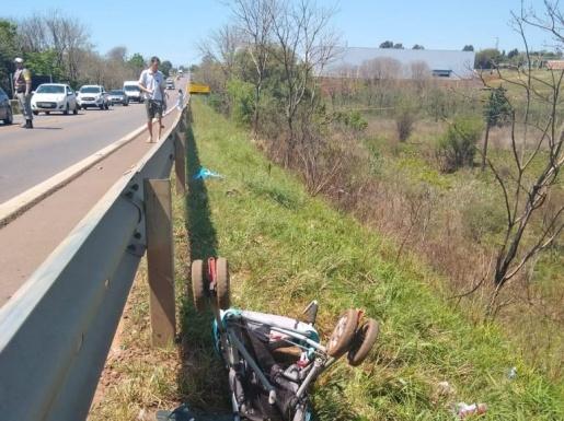 Caminhão emplacado em Guaraciaba atropela e mata duas pessoas no RS