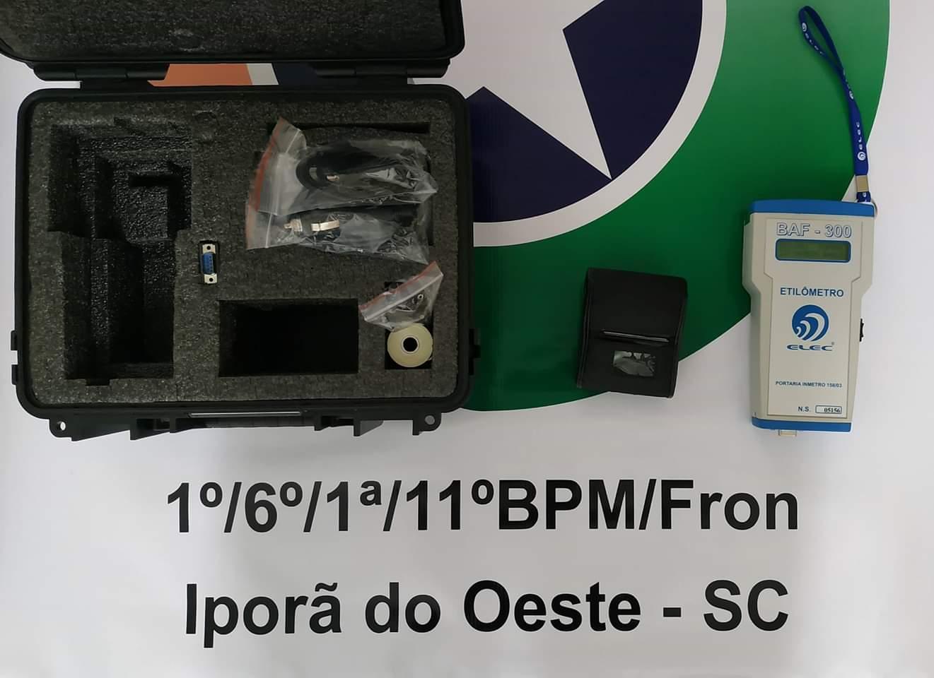 Polícia Militar de Iporã do Oeste recebe etilômetro