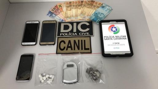 Polícia Civil prende mais um traficante de drogas em São Miguel do Oeste