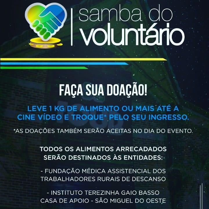 Four Club sedia a 1ª edição do Samba do Voluntário em Descanso