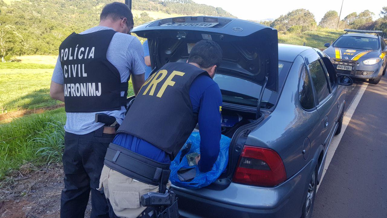 Operação apreende R$ 10 mil em eletrônicos do Paraguai na BR-282
