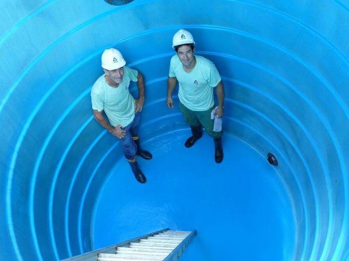 Reservatórios de água da Casan passam por limpeza