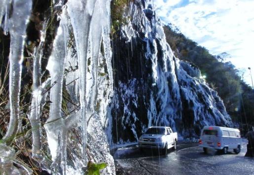 Congelamento faz Serra do Rio do Rastro ser interditada nesta noite de sexta-feira