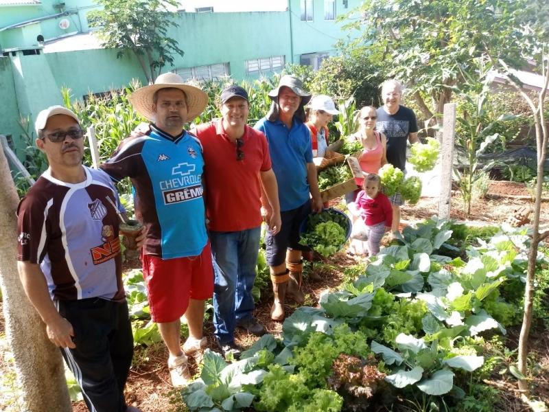 Realizada primeira colheita do projeto Horta Comunitária em São Miguel do Oeste