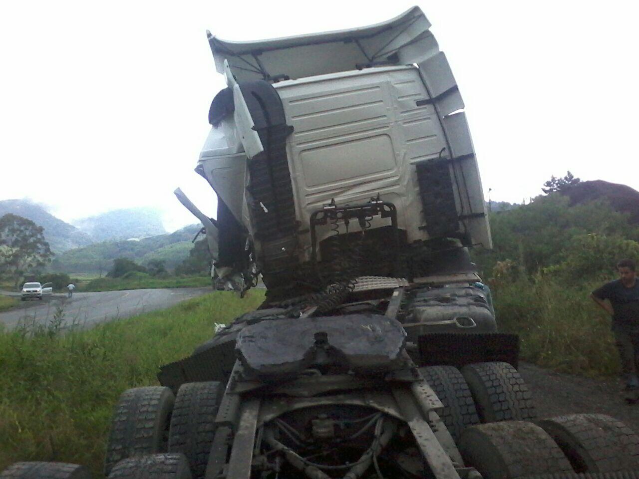 Acidente na BR 470 envolve motorista da região