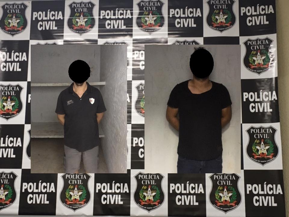 Polícia Civil prende dois homens suspeitos de furtos na região
