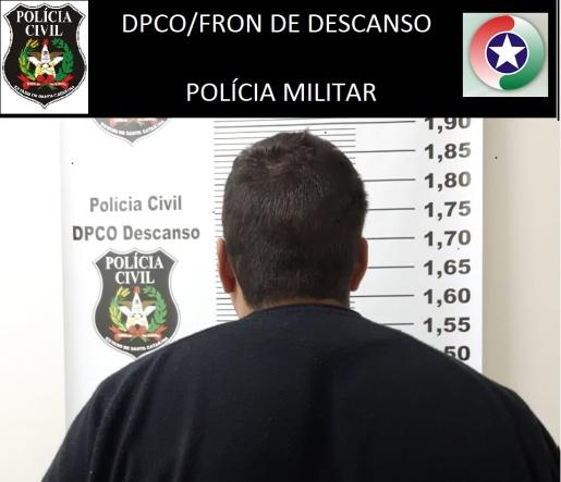 Polícia de Descanso prende homem condenado por estupro