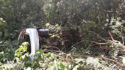 Veículo com placas de Guaraciaba se envolve em acidente na BR-282