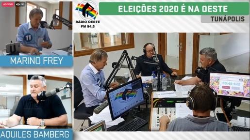 Candidatos a prefeito de Tunápolis apresentam propostas em debate na Rádio Oeste FM
