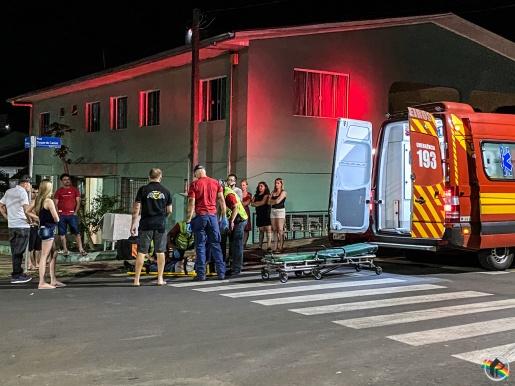 VÍDEO: Entregador fica ferido após ter preferencial invadida em SMO