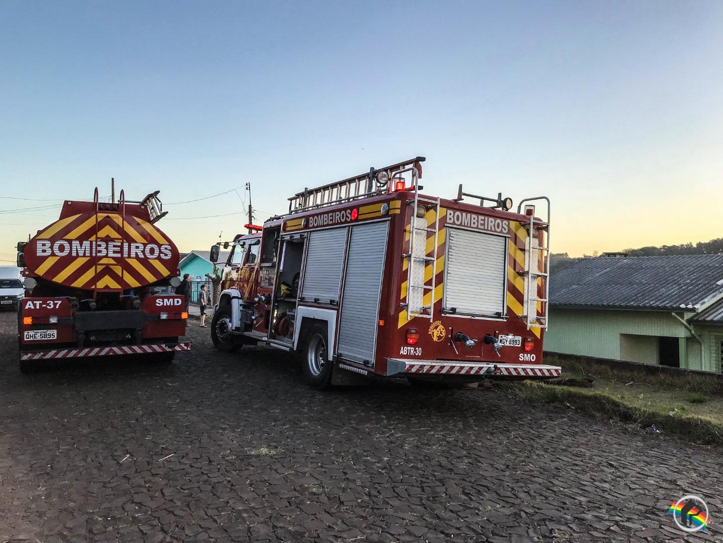 Princípio de incêndio mobiliza bombeiros em São Miguel do Oeste