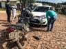 Colisão entre carro e moto deixa homem ferido em SMO