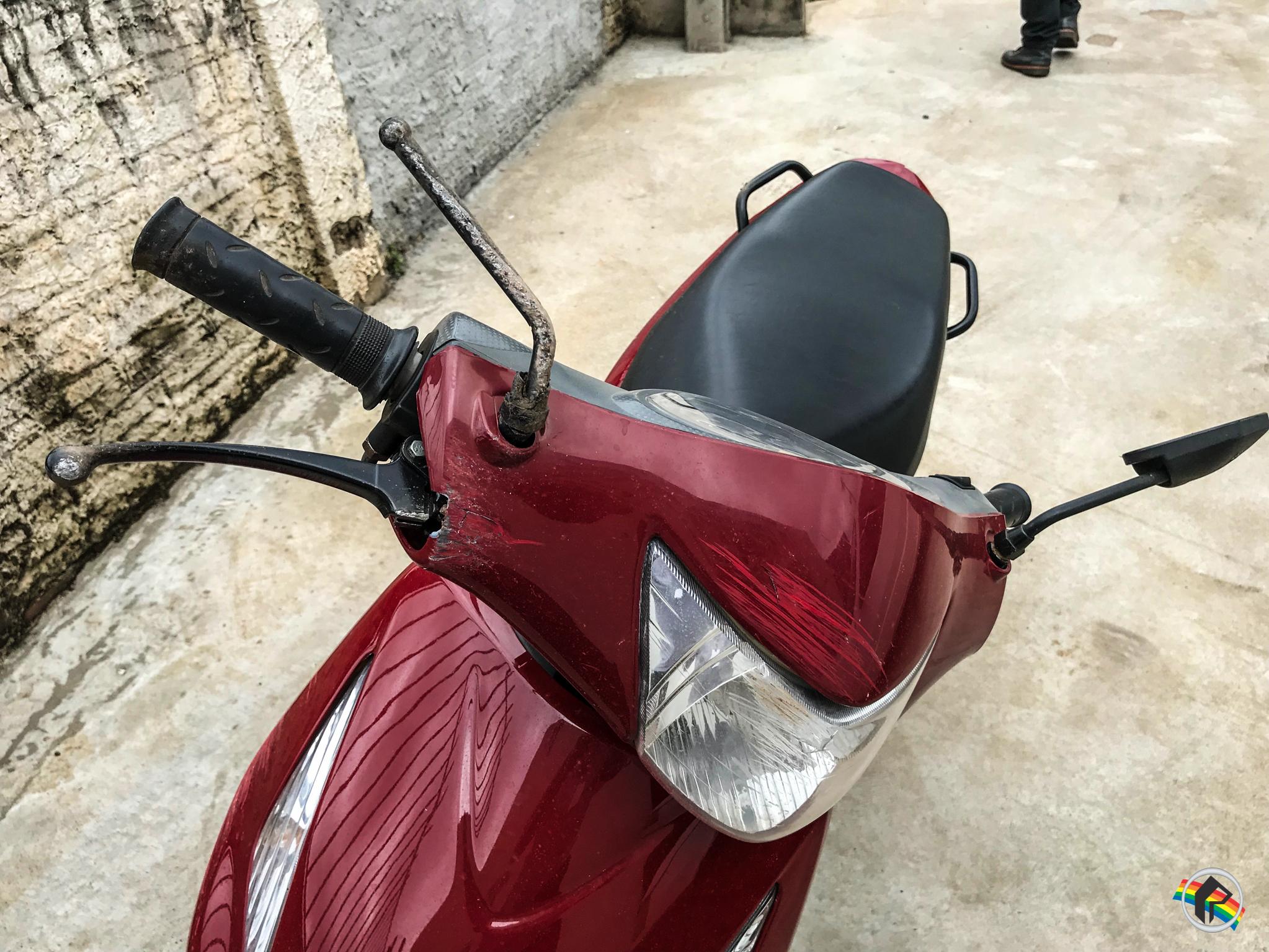 VÍDEO: Buraco na Willy Barth causa acidente com moto