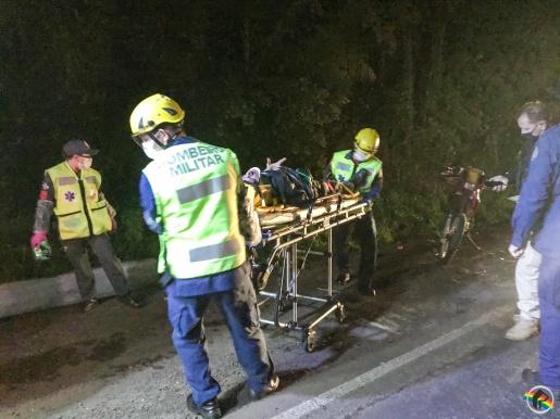Queda de moto deixa homem ferido na BR-163 em SMO