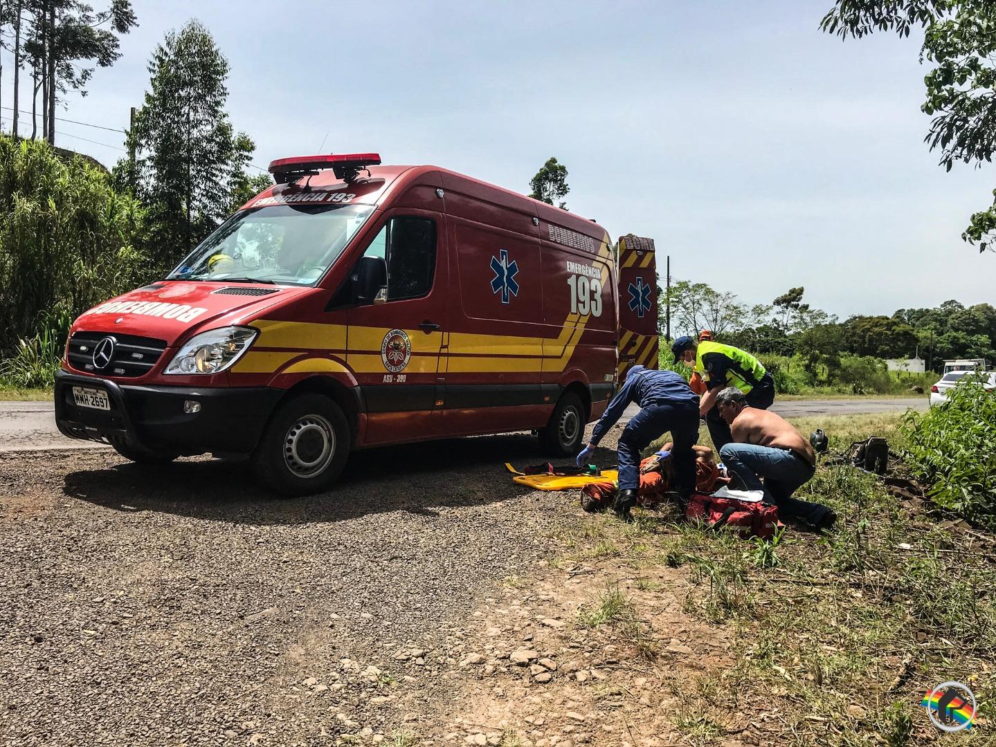 VÍDEO: Atropelamento deixa homem gravemente ferido na BR-163