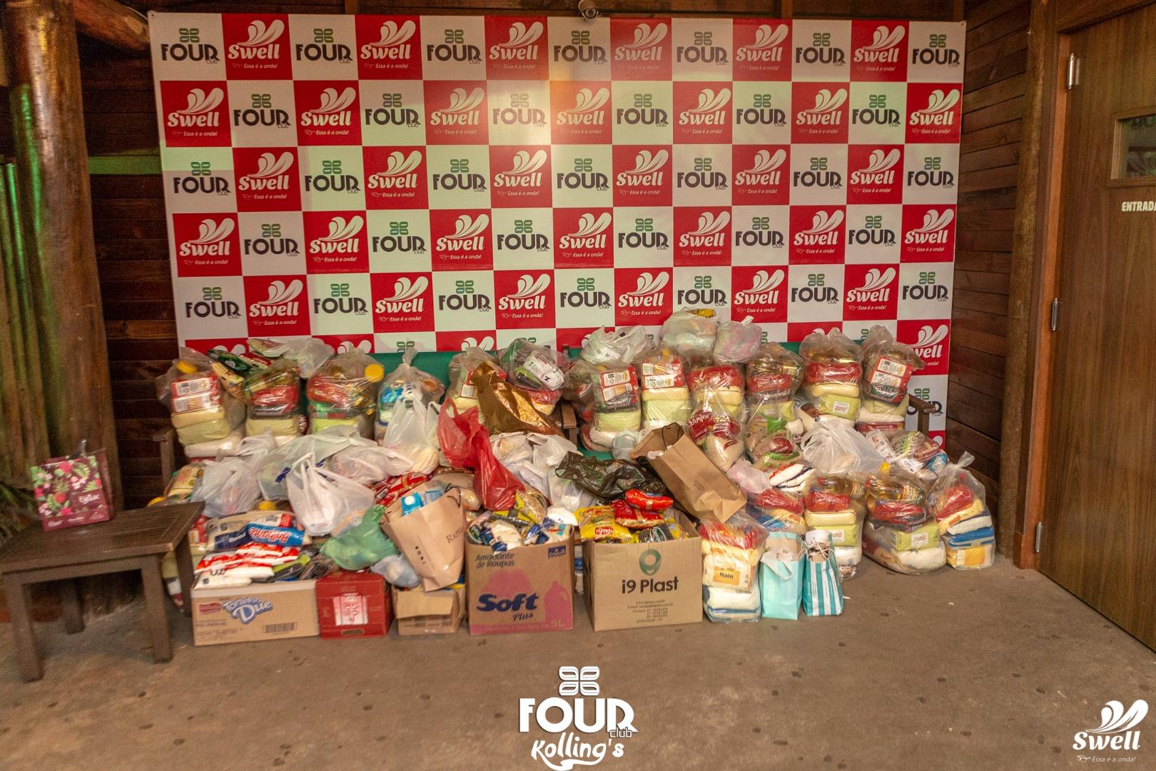 Samba do Voluntário arrecada mais de uma tonelada de alimentos