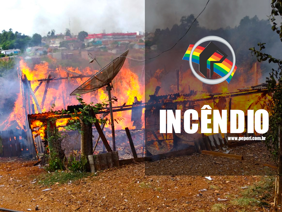 Residência é completamente consumida por incêndio em São Miguel do Oeste