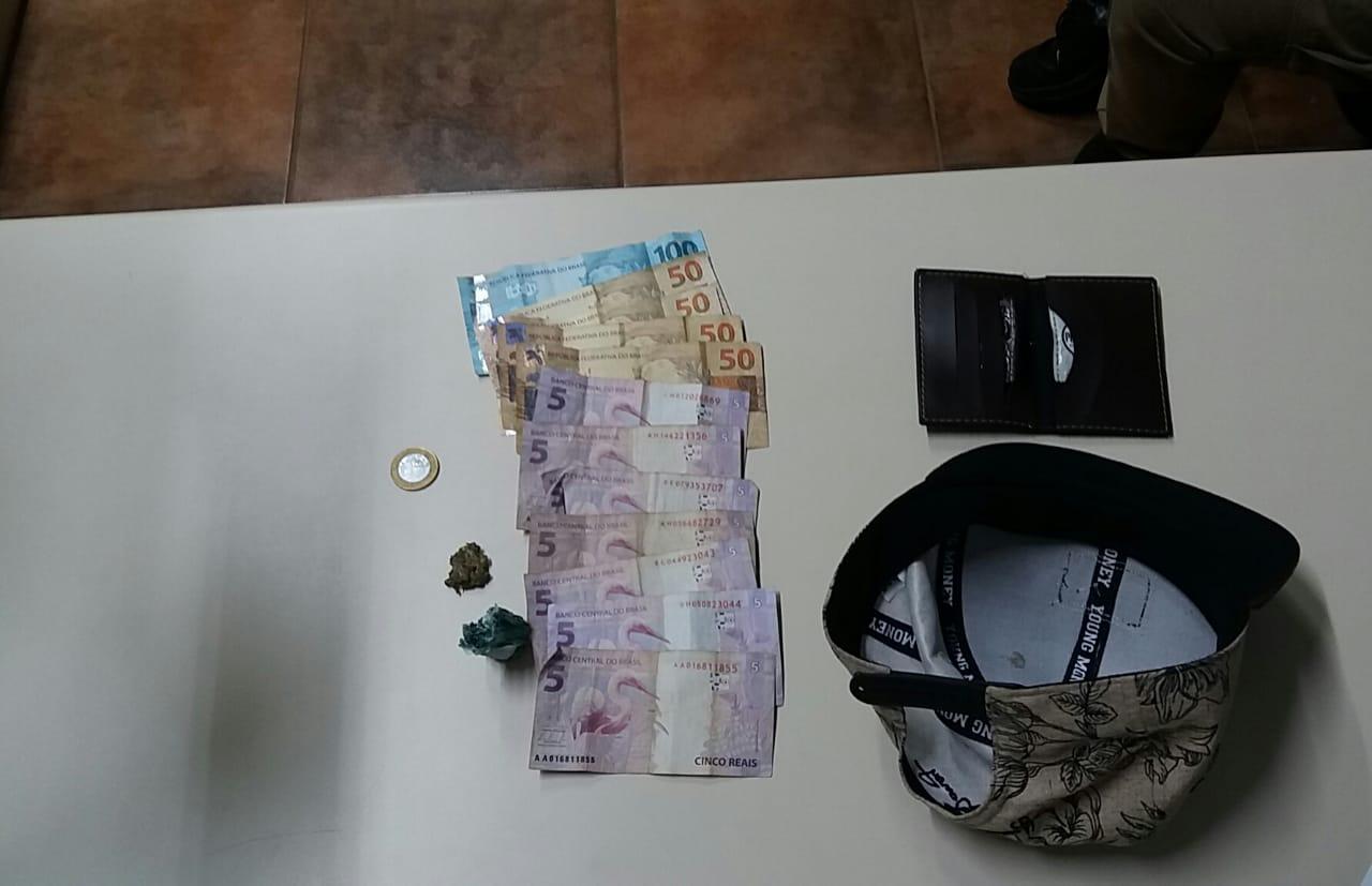 Rapaz é preso com drogas em Itapiranga