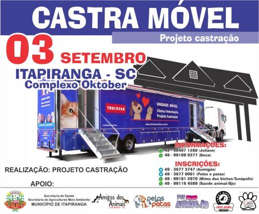 Itapiranga terá a segunda edição do Castra Móvel