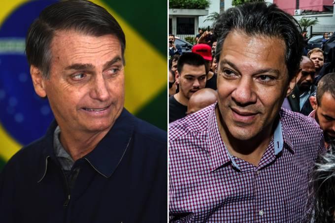 Pesquisa 2° turno: Bolsonaro 54% e Haddad 46% (votos válidos)