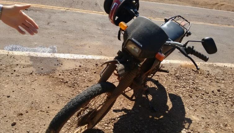 Motociclista ferido em acidente na SC 163 em Itapiranga