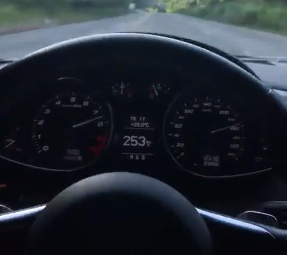 Polícia investiga motorista que fez vídeo dirigindo acima dos 250km/h na região
