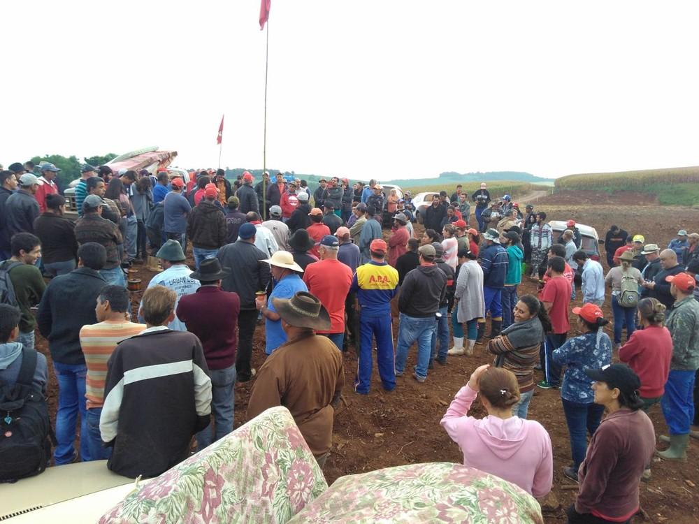 Famílias do MST voltam a ocupar fazenda do Oeste catarinense