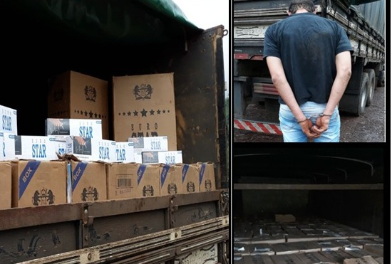 Operação integrada resulta em grande apreensão de cigarros contrabandeados