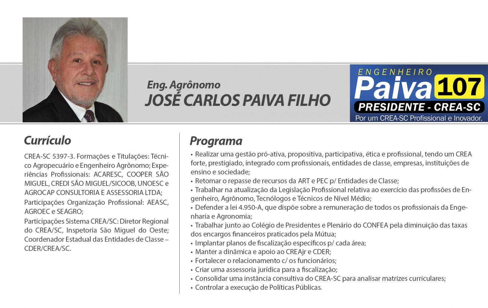 Agrônomo da região é um dos candidatos à presidência do Crea