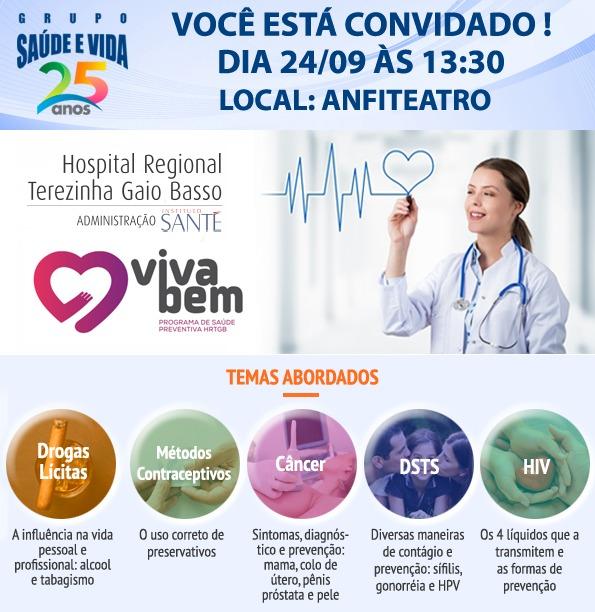 Hospital Regional recebe Grupo Saúde e Vida para palestra na unidade