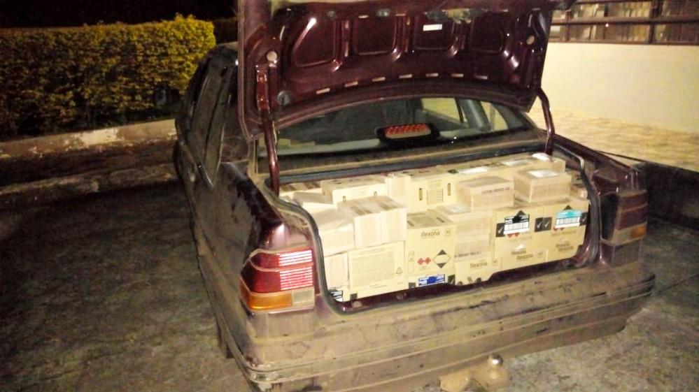 PM de Barracão apreende carga de desodorantes e vinhos provenientes da Argentina