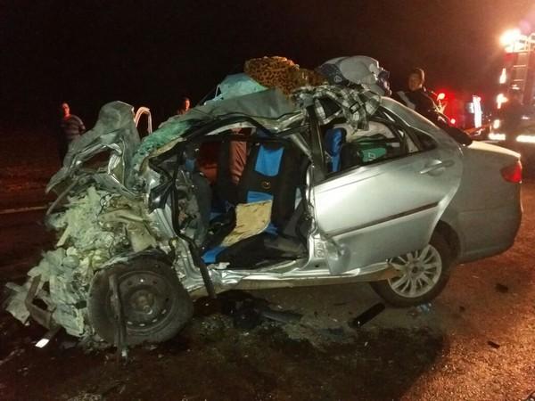 Cinco pessoas da mesma família morrem após acidente na BR-163 no Paraná