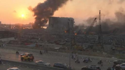 VÍDEO: Forte explosão é registrada em Beirute, capital do Líbano