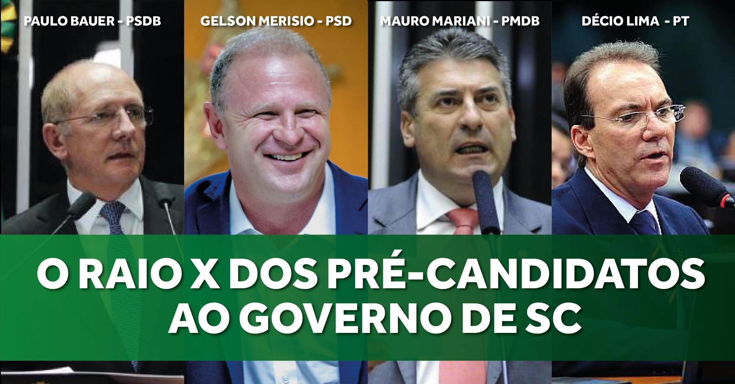 Quem são os possíveis candidatos a governador de SC?