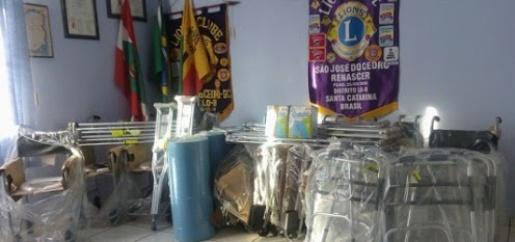 Lions clube Renascer realiza cerca de 30 empréstimos de aparelhos ortopédicos por mês