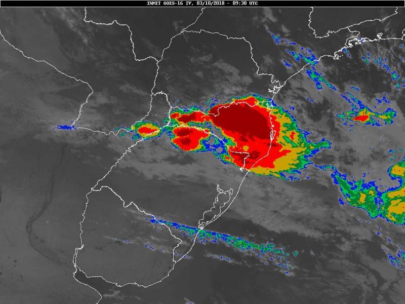 Santa Catarina terá mais um dia de tempo instável nesta quarta-feira