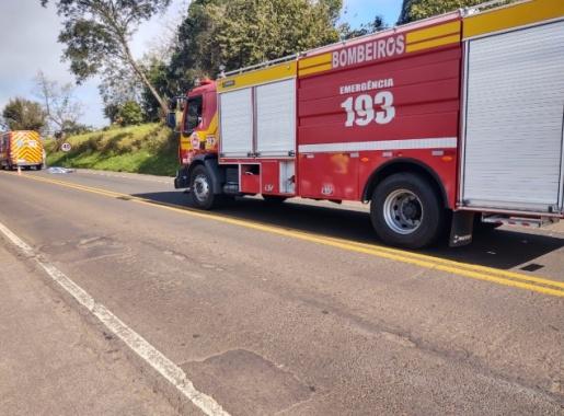 Mulher morre atropelada na BR-282 em Pinhalzinho