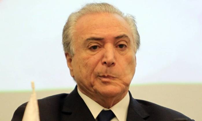 MDB encomenda pesquisa para avaliar chances de Temer nas eleições de 2018