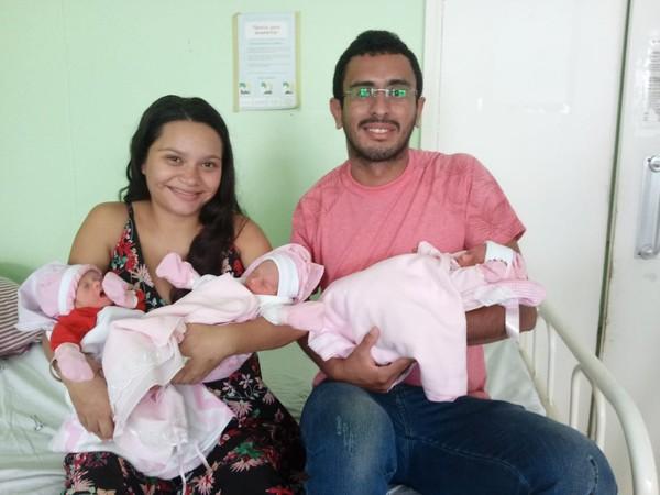 Mãe descobre gravidez de trigêmeas na hora do parto no Piauí