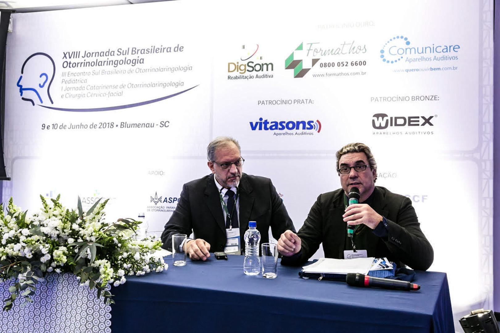 Profissional do município ministra palestra na 18ª Jornada Sul Brasileira Otorrinolaringologia