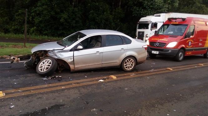 Duas mulheres ficam feridas em acidente na PRC-158