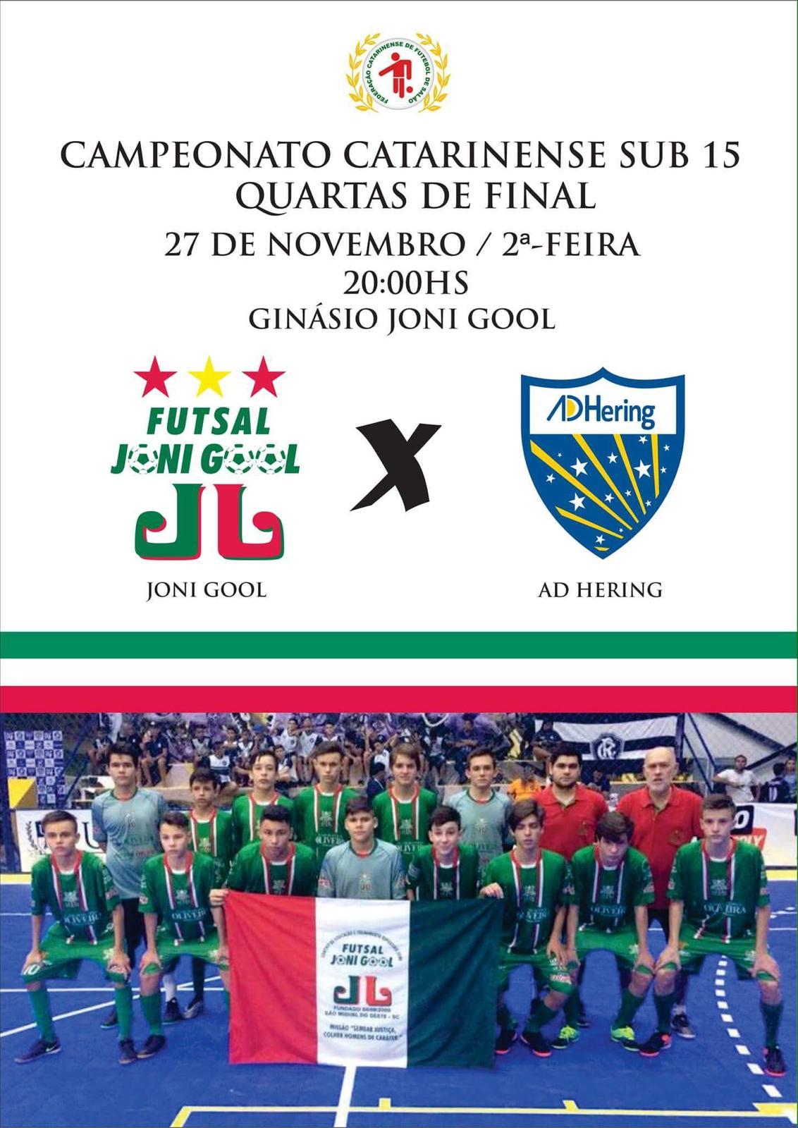 Su-15 do Joni Gool decide vaga no Campeonato Catarinense nesta segunda