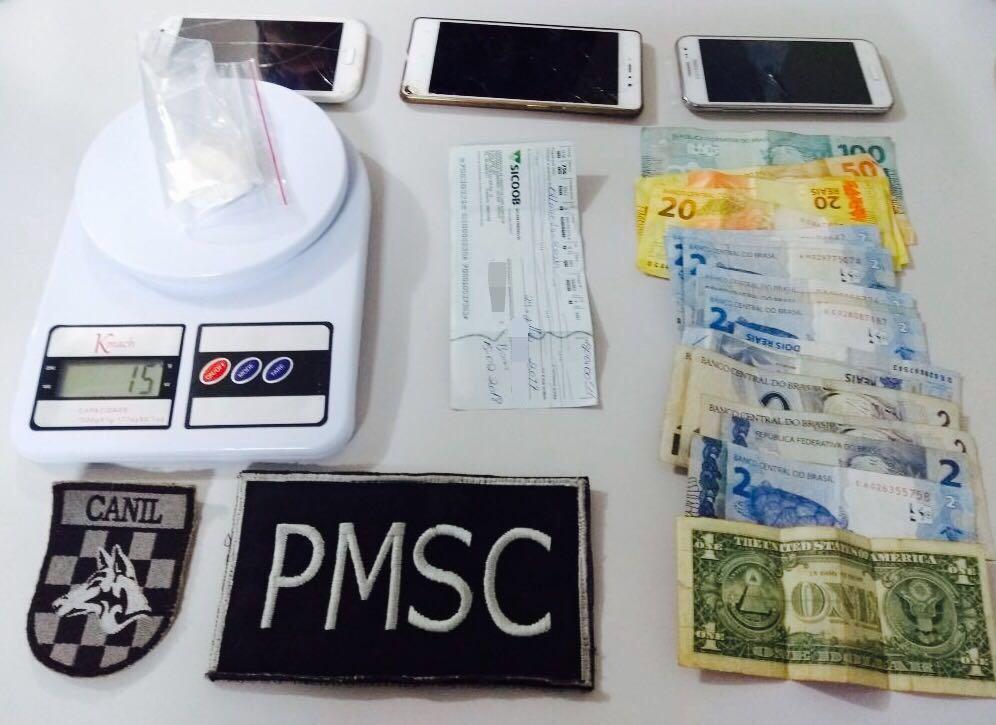 Policia Militar prende casal com Cocaína em São Miguel do Oeste