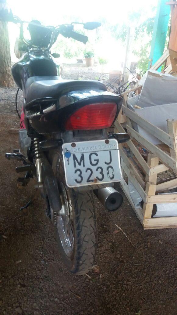 Motocicleta com placa de São Miguel do Oeste se envolve em acidente na BR 282