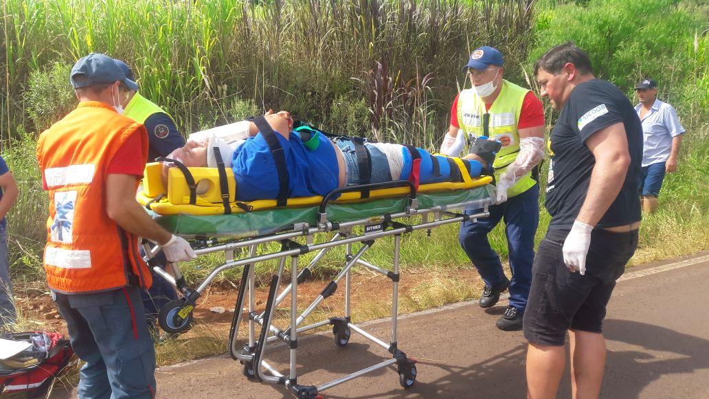 VÍDEO: Motociclista fica gravemente ferido em colisão na SC 496 em Descanso